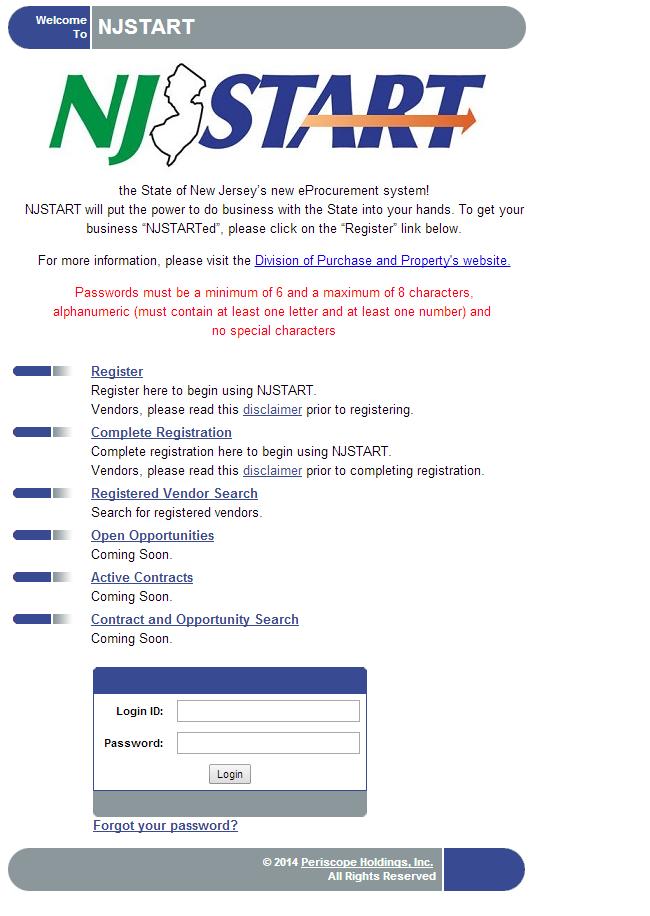 NJSTART's homepage