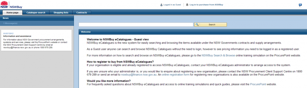 NSWBuy's eCatalogue