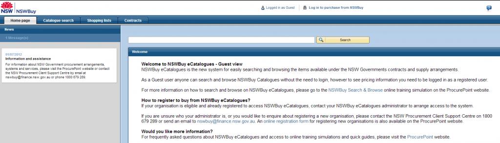 NSWBuy's eCatalogue