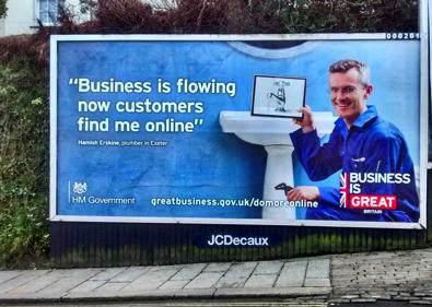 UK G2B campaign billboard