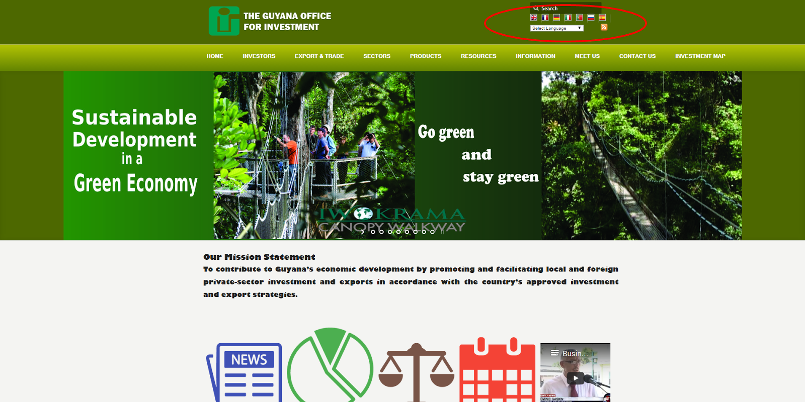 New GO-Invest site