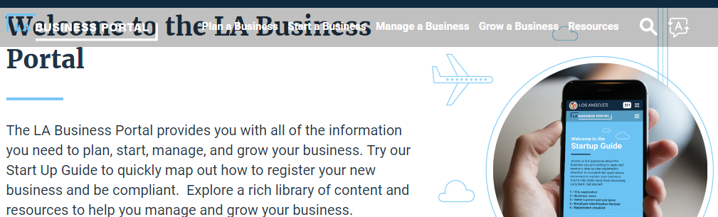 Troublesome formatting on the Los Angeles City Business Portal