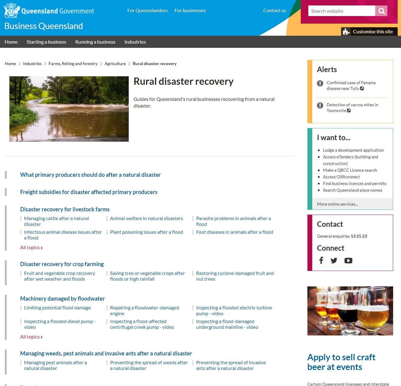 An example of excellence in presenting agricultural disaster recovery information