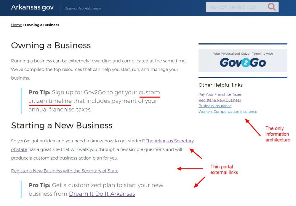 Arkansas Beta - Business page