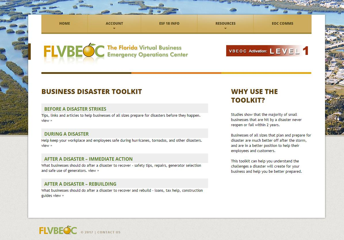 FLVBEOC Business Disaster Toolkit