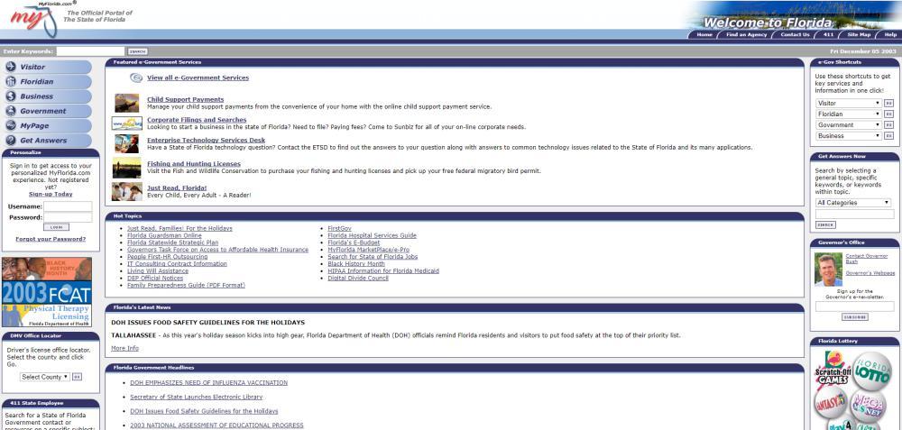 MyFlorida.com 2003