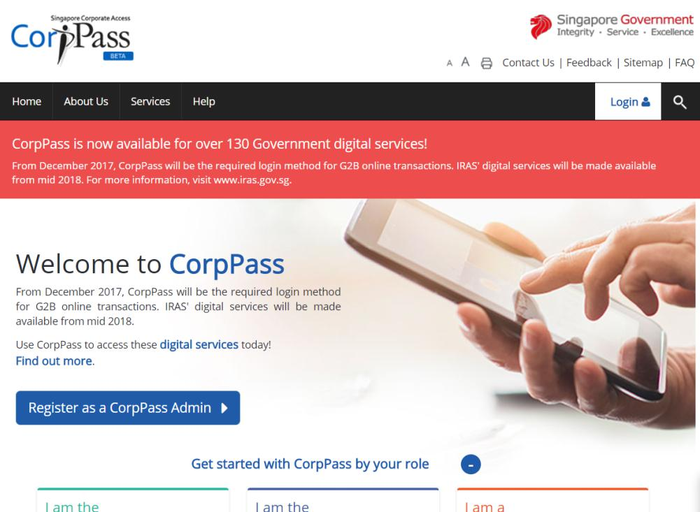 Singapore's CorpPass Login