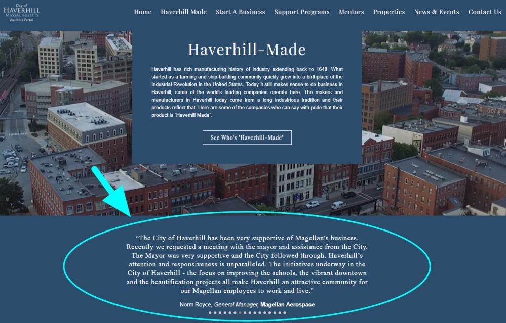 Haverhill Made testimonials